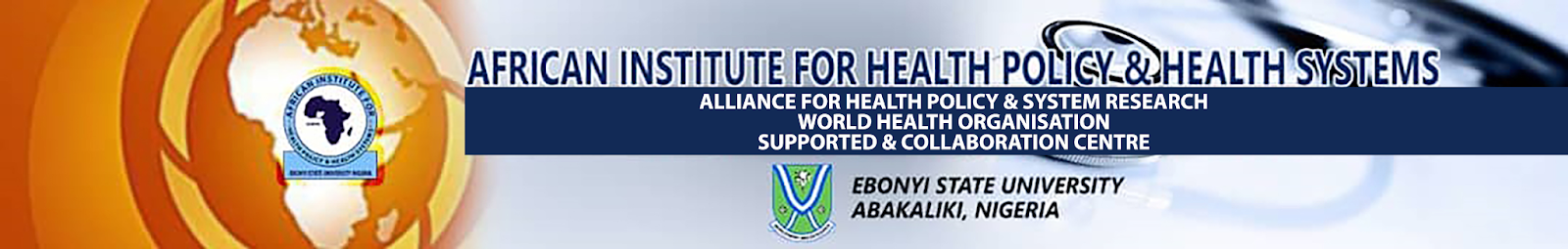 African Institute for Health Policy & Health Systems banner