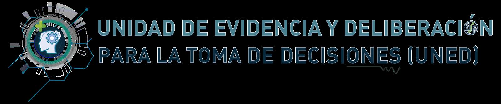 Unidad de Evidencia y Deliberacion Logo